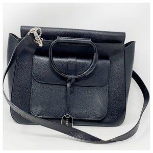Authentic Gucci Black Leather Shoulder Bag
